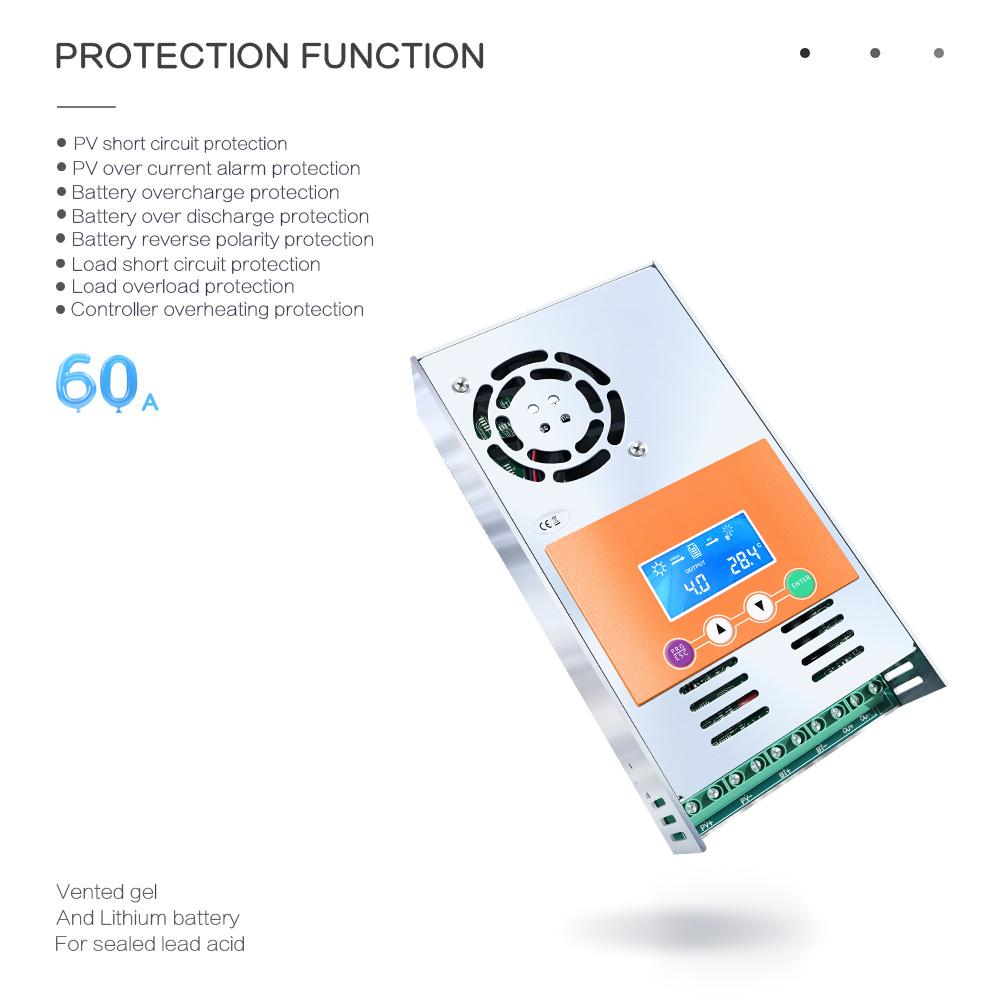 Y-Solar MPPT 60A 12V/24V/36V/48V Solar Charge Controller/Regulator MPPT-60A