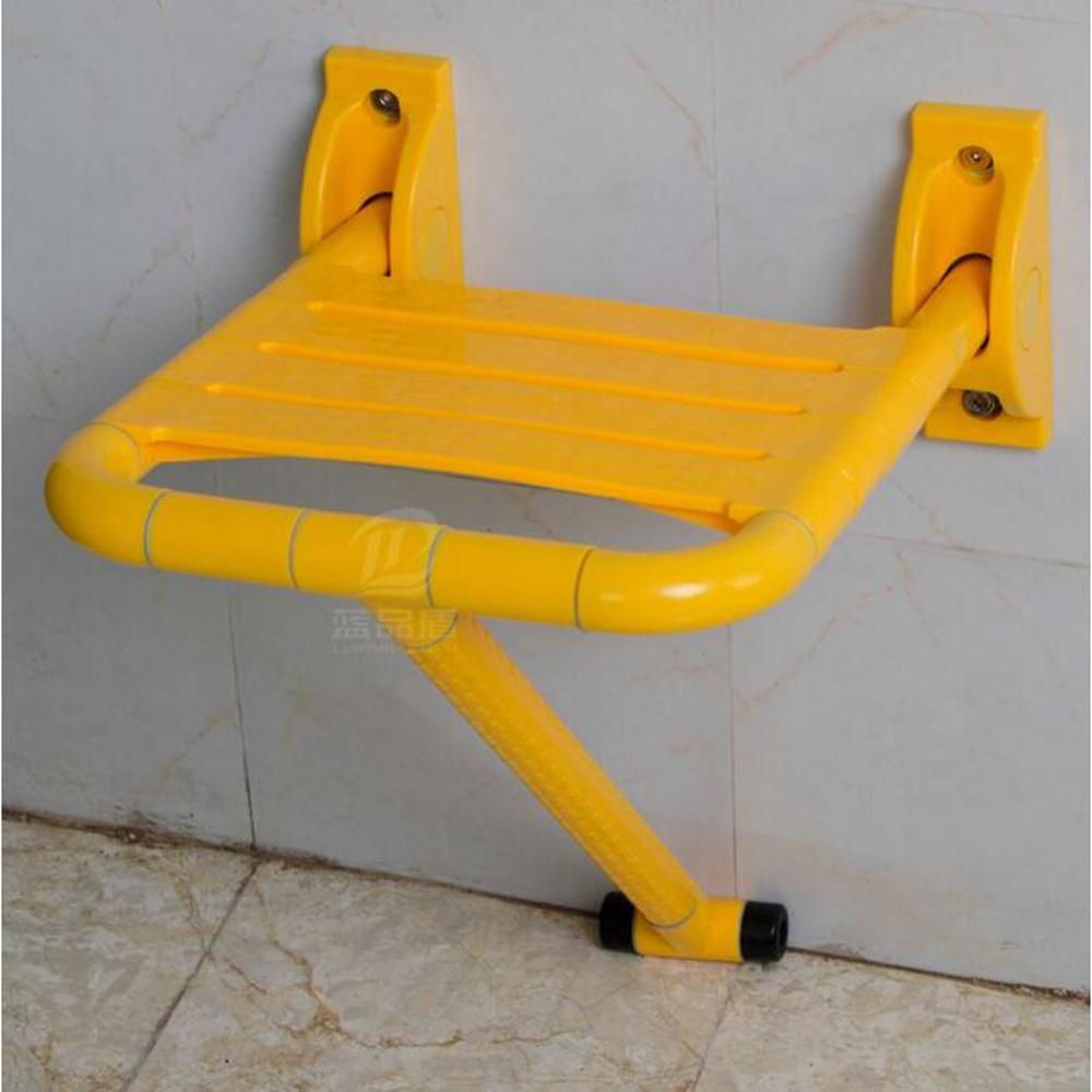 Folding Nylon Anti Skid Sauna Chair Bathroom Disabled Shower Stool