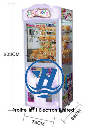 Popular Amusement Park Equipment Coin Pusher Claw Vending Game Machine (ZJ-CGA-4)