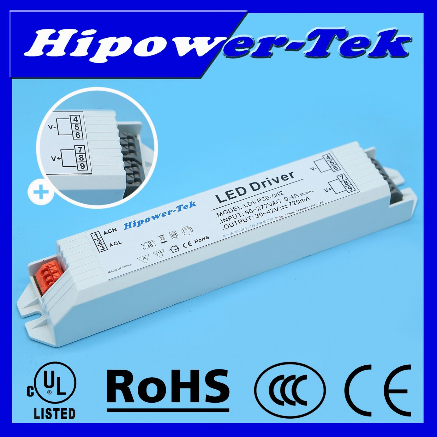 20W/30W/40W Constant Current Plastic Case LED Driver