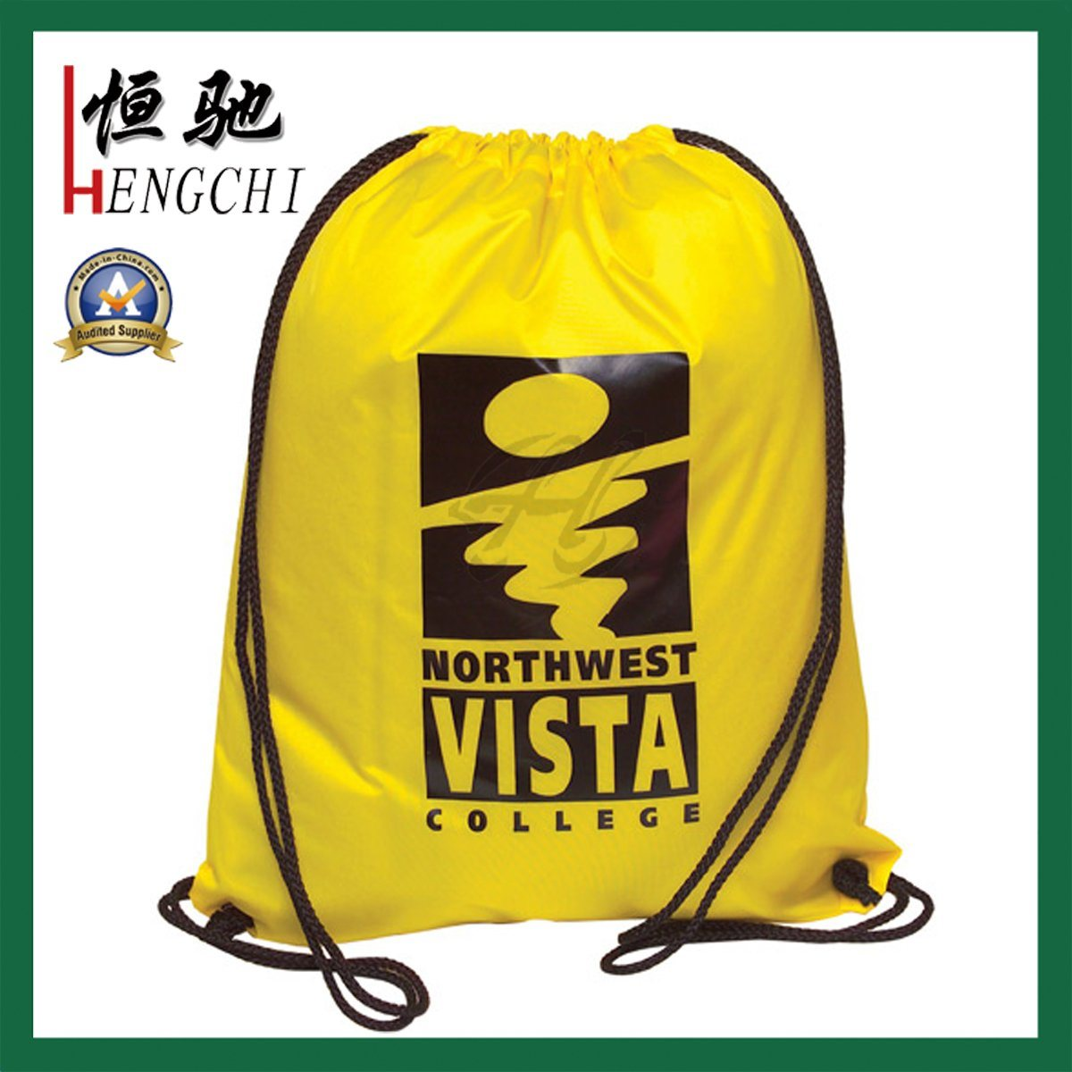 Custom Design Gym Sports Backpack Bag with Drawstring
