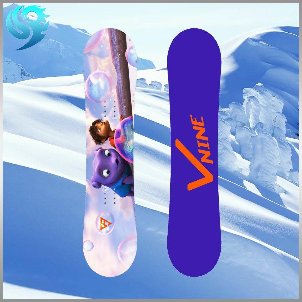 Poplar Wood Colorful Printed Design Wholesale Snowboard