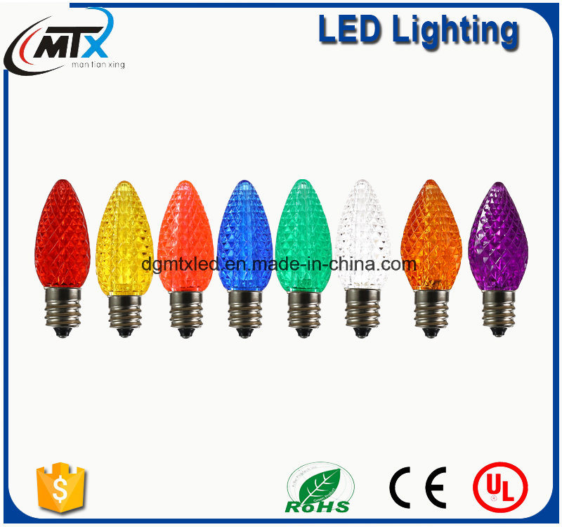 Decorative 0.5W RGB C7 C9 Christmas LED String Light Bulb
