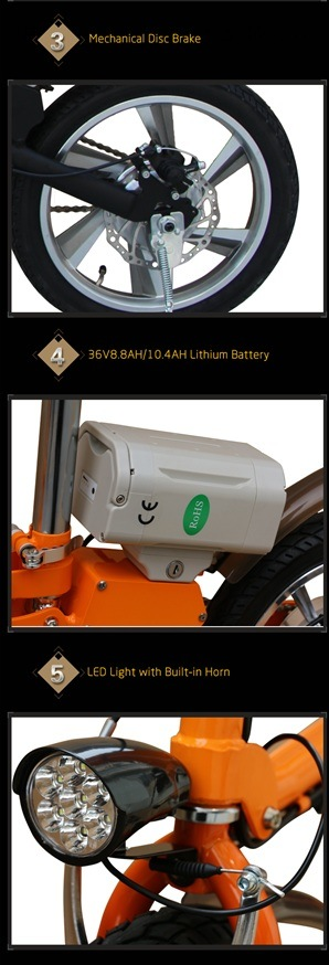 Bike Lithium Battery Aluminum Alloy Electric Bicycle