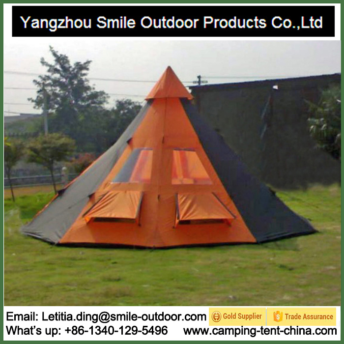 Outdoor Large Family Hiking Camping Waterproof 10-Person Teepee Tent Camping