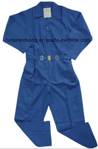 Long Sleeves Navy Polyester Coverall 032