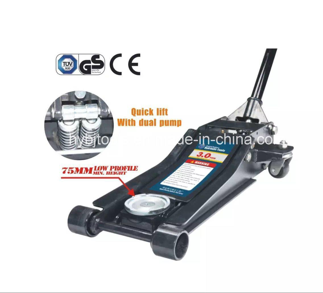3t Low Profile Floor Jack with Double Pump Qfl0301