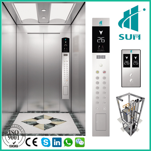 Good Quality Passenger Elevator with Competitive Price Machine-Room-Less FUJI Type Vvvf Residential Lift