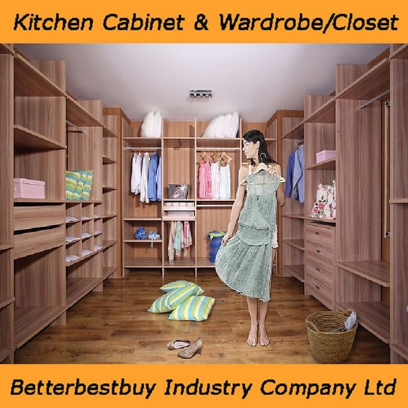European Style Wooden Closet Wardrobe