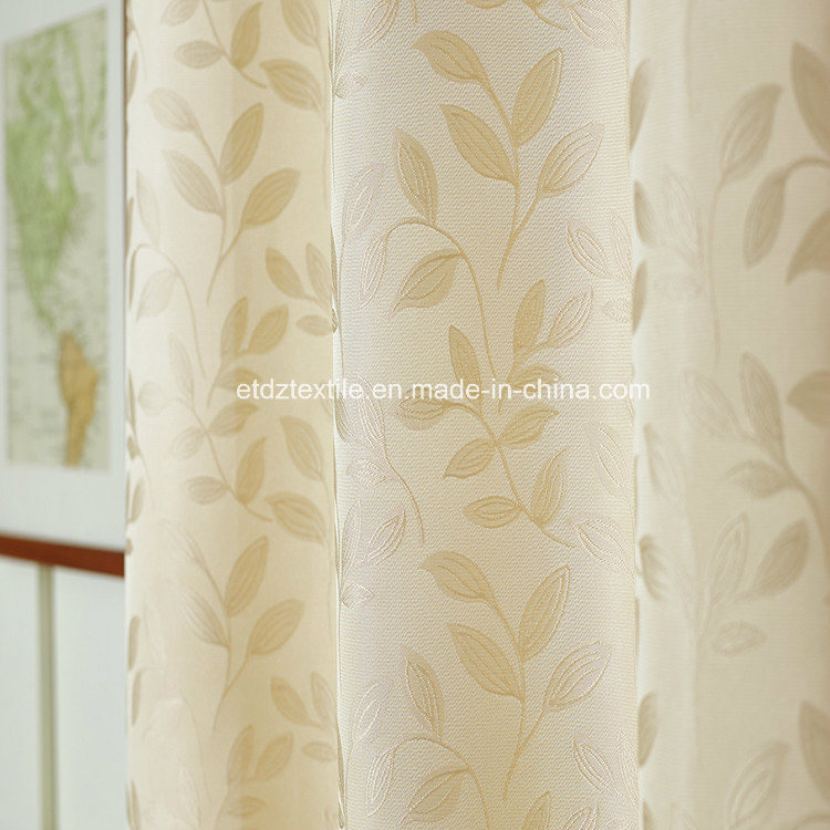 Modern Small Leaf Flower Pattern of Curtain