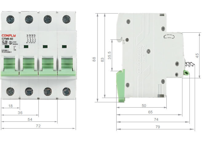 Cfm5-63 Mini Circuit Breaker Ce RoHS Semko MCB 10ka