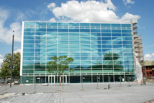 Modern Ladder Systems Frameless Low E Glass Curtain Wall