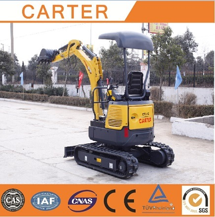 CT16-9bp with Zero Tail&Retractable Chassis& Rubber Tracks Mini Digger