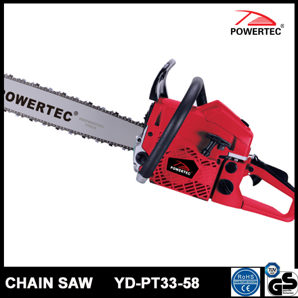 Powertec CE GS Easy Start 58cc Gasoline Chain Saw (YD-PT33-58)