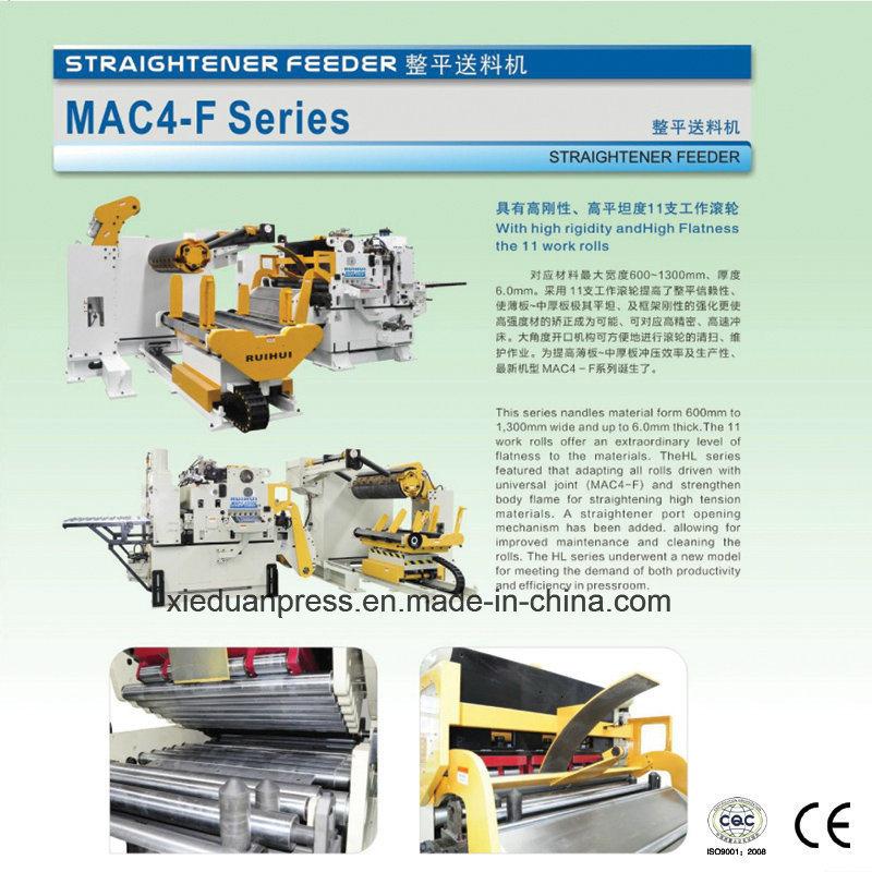 3 in 1 Servo Straightener Feeder Straight Side Double Crank Press Line