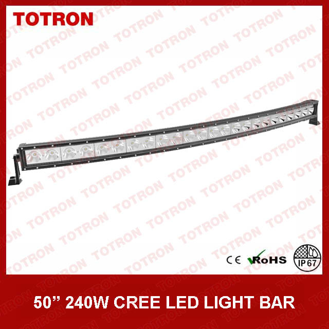 "49.5"" 240W High Lux Single Row Curved CREE LED Light Bar for Offroad with CE, RoHS, IP67 Certificated (TLB5240X)"