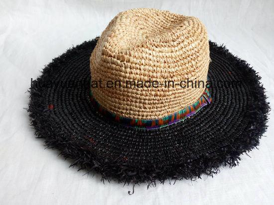Crocheted Raffia Straw Leisure Style Safari Hats