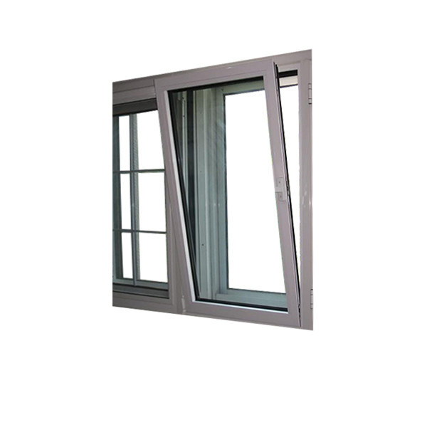 Powder Coated Aluminum Tilt Turn Window with Impact Glass