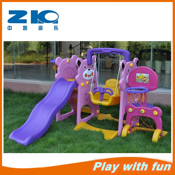 Outdoor Plastic Swing and Slide Indoor Swing with Slide