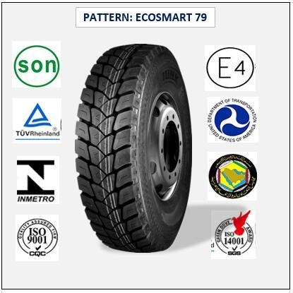 315/80r22.5 (ECOSMART 79) with Europe Certificate (ECE REACH LABEL) High Quality Truck & Bus Radial Tires