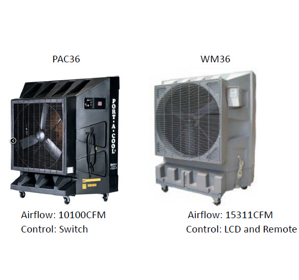 Industrial Portable Water Evaporative Air Cooling/Evaporative Cooling Fan for Sales and Rental
