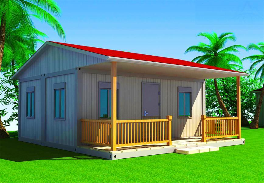 China Prefab Flat Pack Container House With Balcony Photos