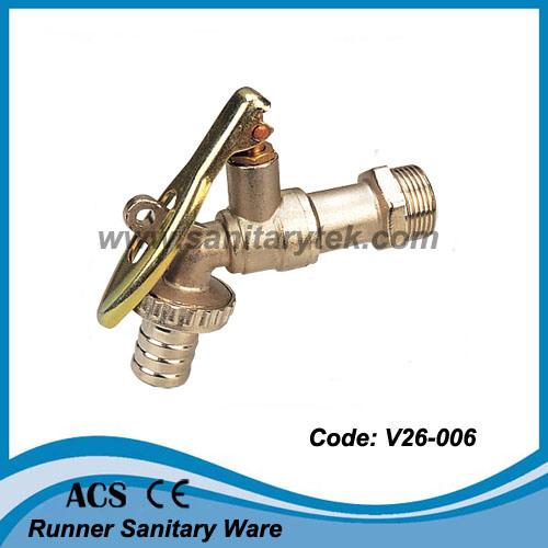 Padlock Brass Bibcock Tap (V26-3206)