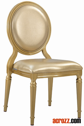 Banquet Tiffany Classic Stackable Gold Louis Dining Chair