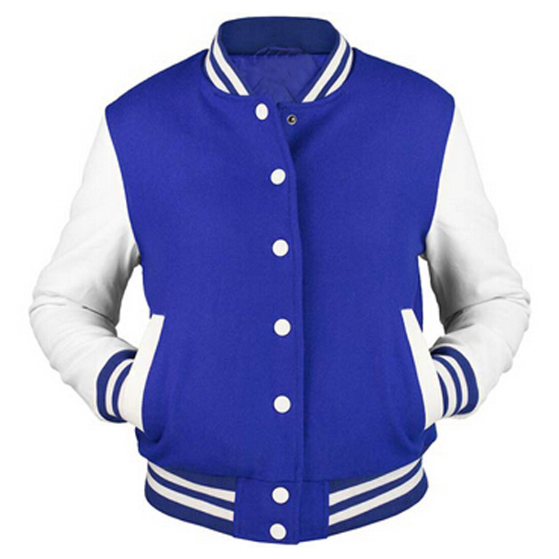 Custom Men′s Cotton Hoodie Baseball Varsity Jacket in Different Colors