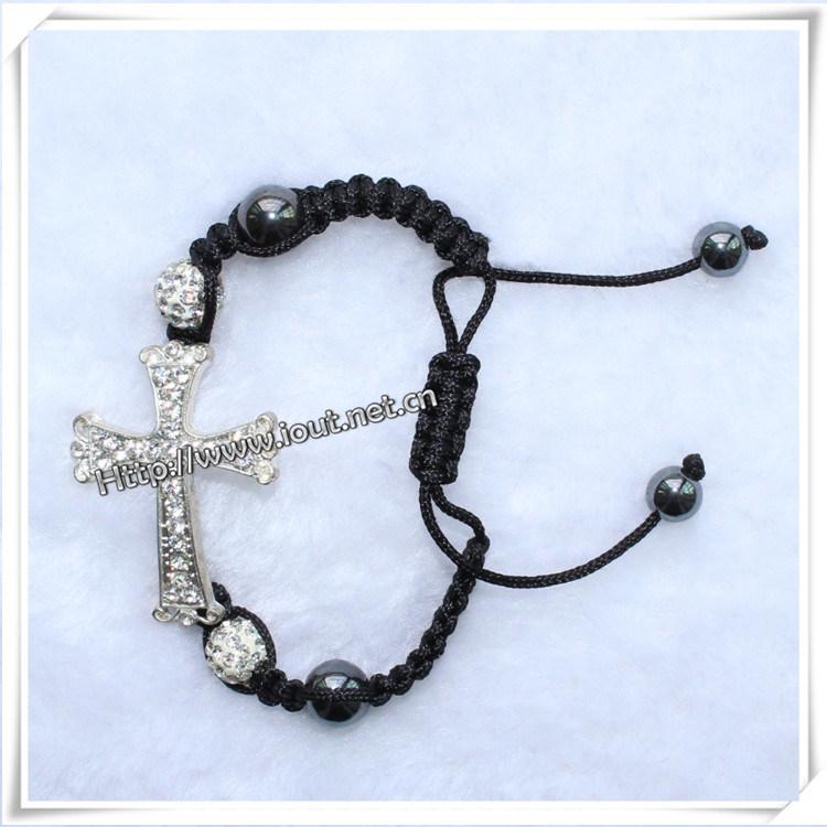 Cross Rosary Fashion Accessories Bracelet Shamballa for Women (IO-CB092)