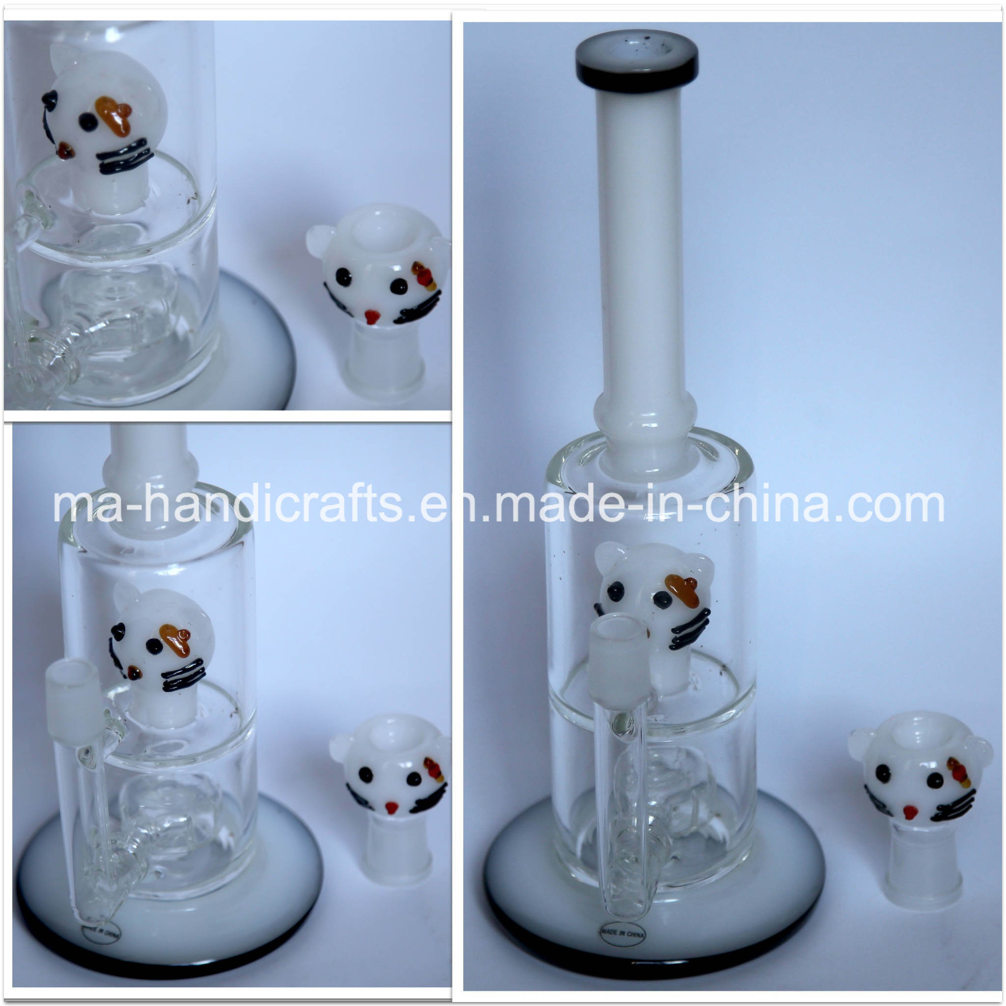 """13"""" Hello Kitty Smoking Glass Water Pipes Glass Bubbler Pipe"""