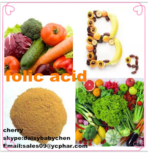 High Quality Folic Acid CAS No: 59-30-3, Vitamin B9 Supply