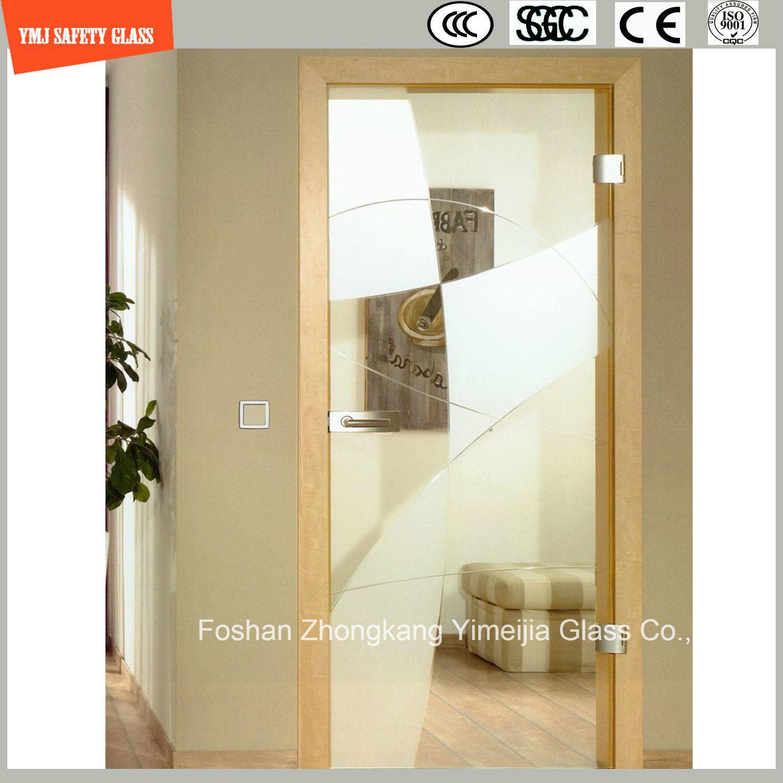 Anti-Fingerprint Acid Ethced Tempered Glass Shower Door