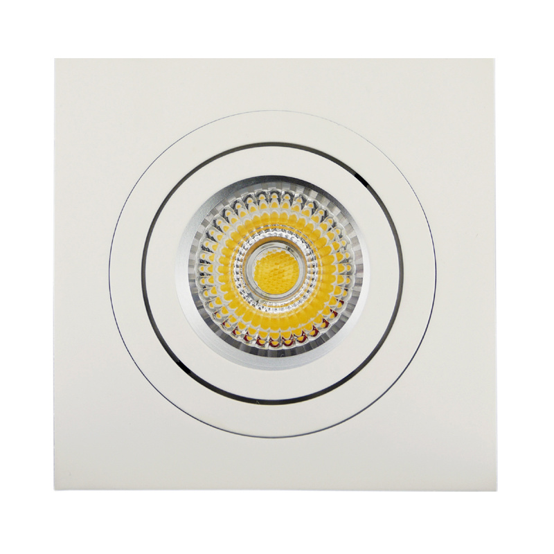 Lathe Aluminum GU10 MR16 Sauqre Tilt Recessed LED Downlight (LT2301)