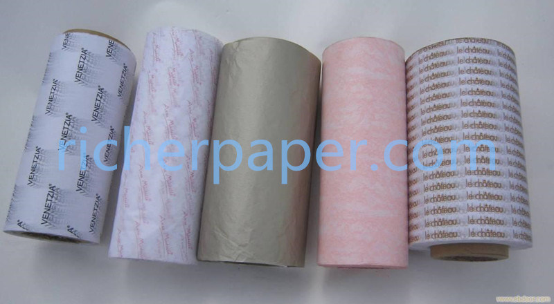 Tissue Paper in Roll for Printing with Different Color