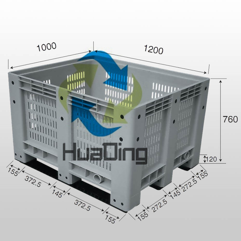 1200*1000*760mm Grid Body Plastic Pallet Box
