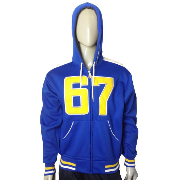 Newest Solid Men′s Print Hoody Fleece Jacket