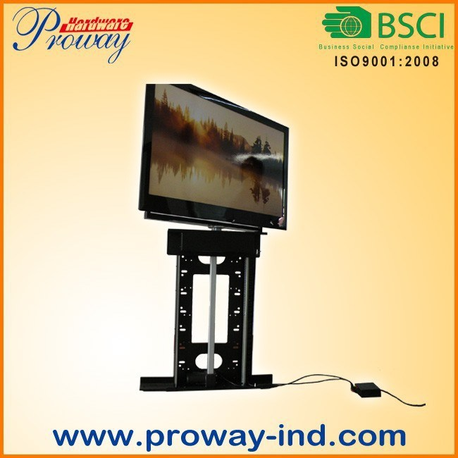 """Motorized TV Stand TV Lift for 32""""-50"""" Tvs, with IR Remote Height Adjustable and 360 Degree Swivel"""