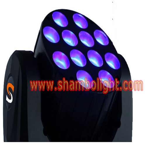 LED Stage Beam Light: 10W*12PCS RGBW 4 in 1 LED Moving Head Stage Sharpy Beam