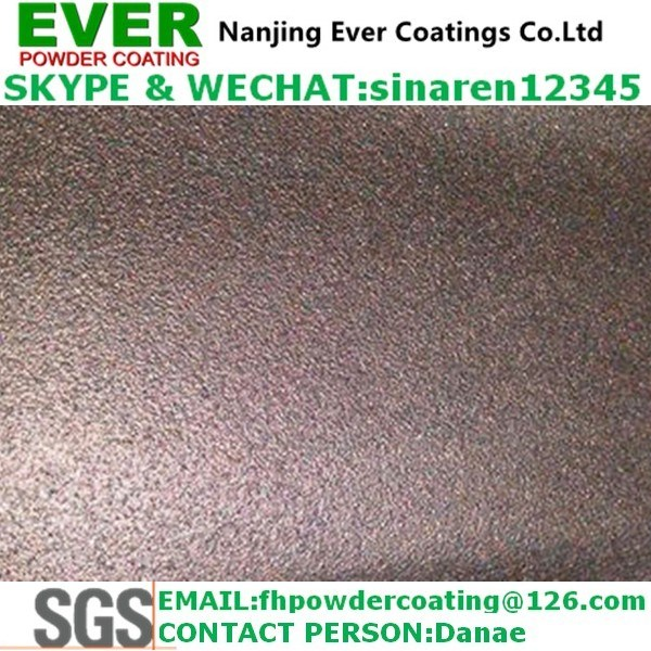 Electrostatic Spray Sand Texture Finish Effect Powder Coating Ral Color