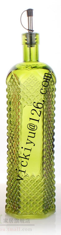 Glass Oil Bottle Glass Vinegar Bottle 750ml Irregular Oil Glass Bottle