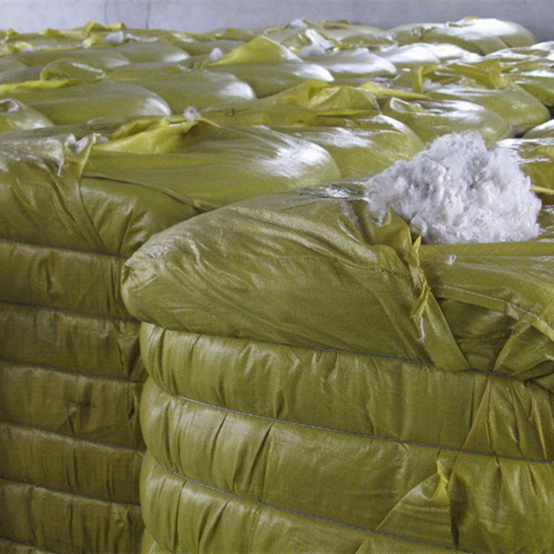 Soft and High Elasticity Recycle Polyester Fiber Polyester Staple Fiber White Color