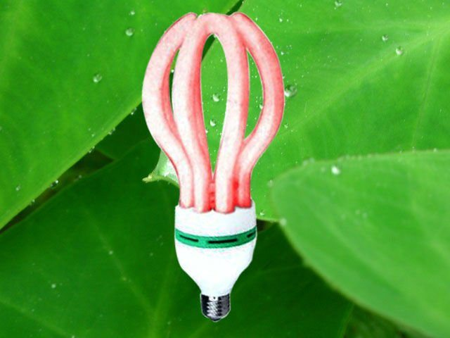 Energy Saving Lamp 105W Lotus Halogen/Mixed/Tri-Color 2700k-7500k E27/B22 220-240V