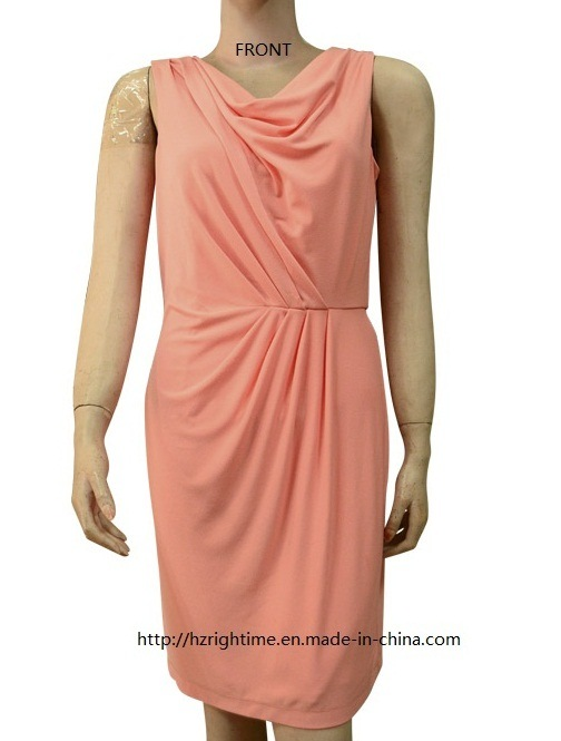 Women's Solid Swing Neck Knitted Dress (RTD14057)