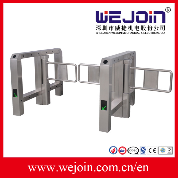 Wide Lane Automatic Swing Barrier Integrated with Card Readers and Software