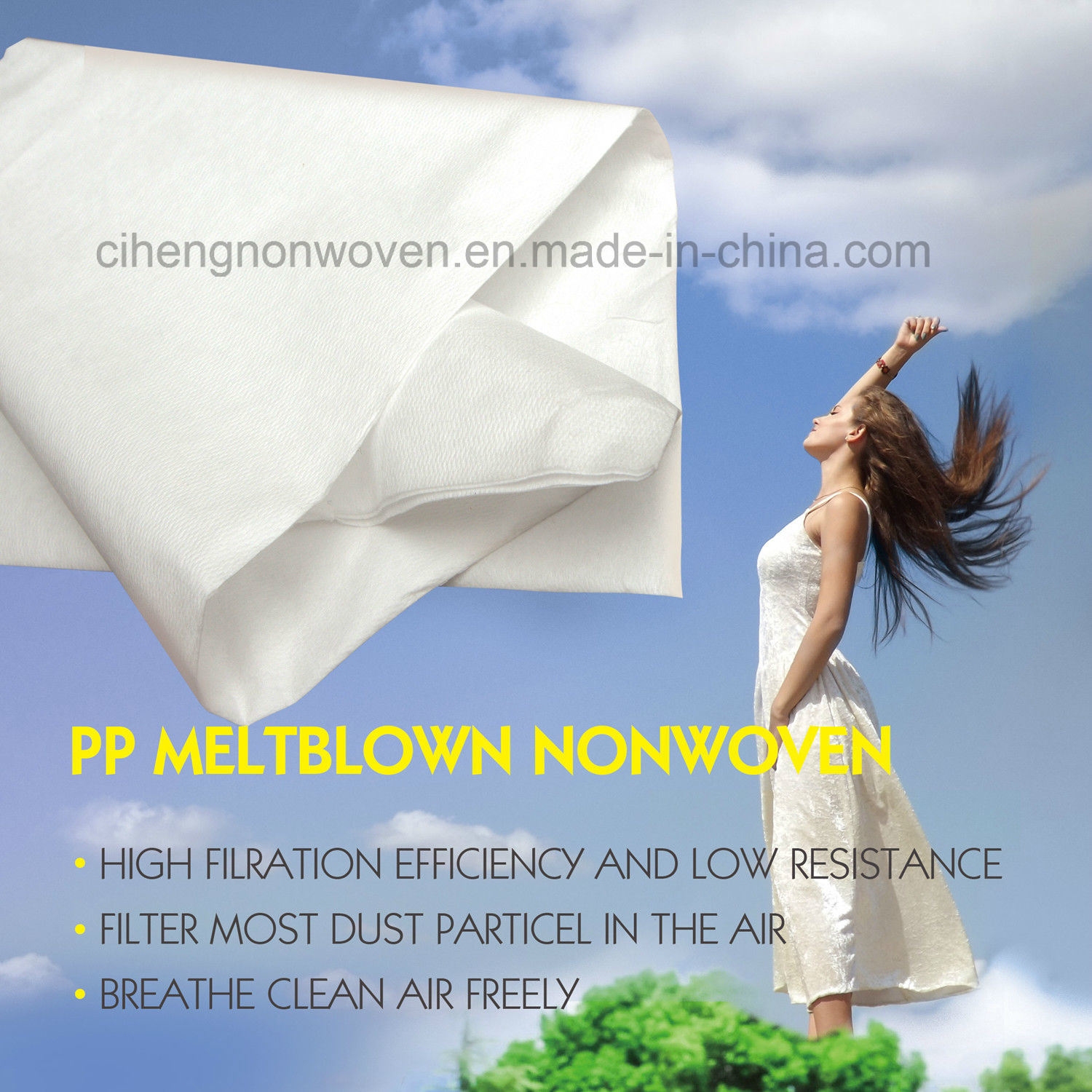20GSM F7-F8 PP Meltblown Nonwovens Air Filter Media