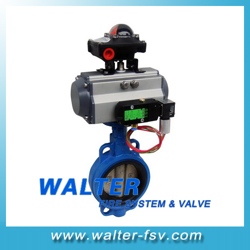 Pneumatic Actuator Wafer Butterfly Valve