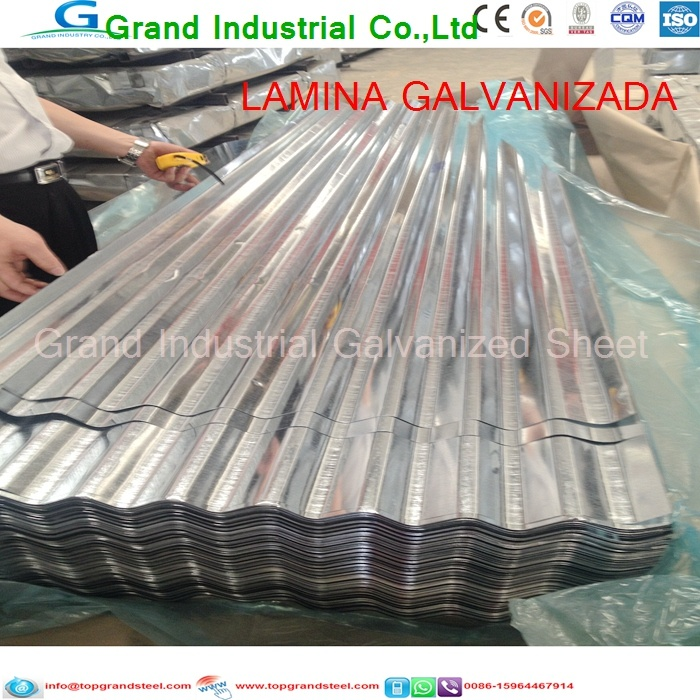 China Grandsteel Galvanized Roofing Sheet for Outdoor Roof Shade