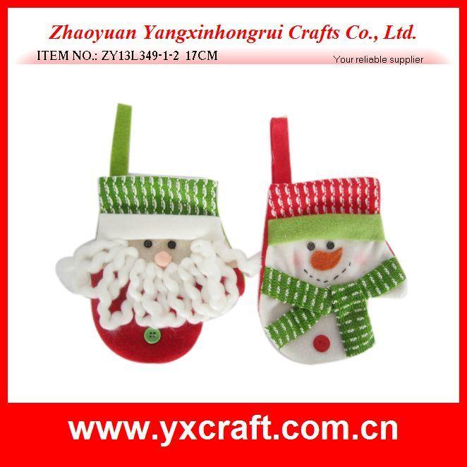 Christmas Decoration (ZY13L349-1-2 17CM) Christmas Decorative Wholesale Gloves