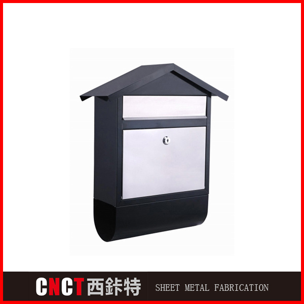 Black and White Rooftop Shape Beautiful Mailboxes